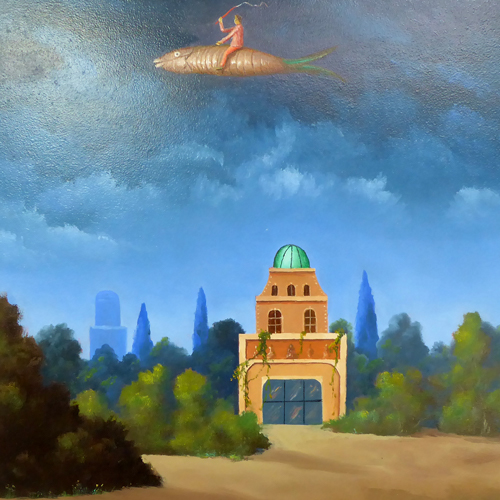 Surrealatistic paintings from Belgian Surrealistic painters, one can buy on-line at our web gallery